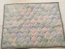 Threshold Pillow Sham multi color dots peach green blue nwot #53227