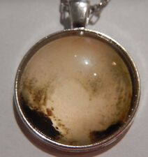 PLUTO'S HEART PENDANT NECKLACE photo of dwarf planet glass cab astronomy 1V
