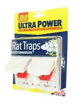 THE BIG CHEESE RAT TRAPS READY BAITED DUAL SPRING POWERFULL SNAP LANDLORDS