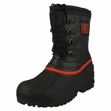 Mens Helly Hansen Fur Lined Black Winter Snow Boots : Norefjell