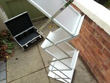 A4 Folding Literature Brochure Leaflet Rack Exhibition Show Display Stand Tiers