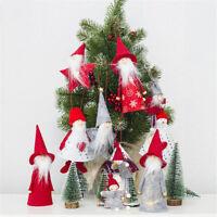 Christmas Cloth Doll Pendant Mini Wooden Christmas Tree Cute Doll Ornament Gift.