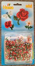 Hama GP Bunte Wiese Nr. 5506 - mini Bügelperlen - Rose, Blume, Libelle