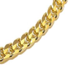 Panzerkette Gold Doublé 5mm 80cm Goldkette Halskette Herrenkette Herren Männer