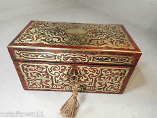 Antique Boulle Tea Caddy Box   2303