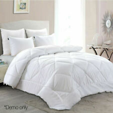 Giselle Bedding 700GSM Bamboo Microfibre Quilt, Size Queen - White