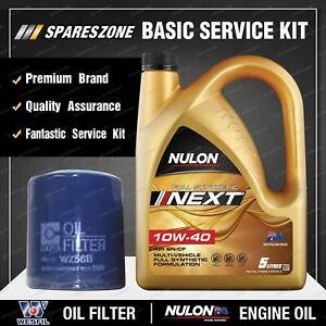 Wesfil Oil Filter 5L SYNNXT10W40 Oil Service Kit for Mitsubishi Magna TR TS 2.6L