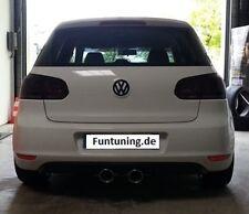 Sportauspuff  + Heckschürze Heckansatz Duplex Auspuff r20 r32 VW Golf 6 VI R