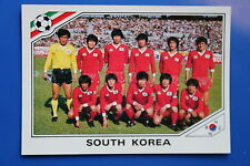 Panini WC MEXICO 86 STICKER N. 91 SOUTH KOREA TEAM WITH BACK VERY GOOD/MINT