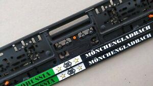 2 Stück Borussia Mönchengladbach Kennzeichenhalter Nummernschildhalter Gladbach