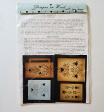 Designs in Wood Tole Painting Pattern Packet June Mays Hearts Tulips Cut in Des.