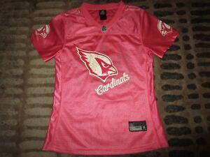 Larry Fitzgerald #11 Arizona Cardinals Pink NFL Reebok Jersey Womens Ladies XL