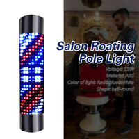 Hair Salon LED Sign Light Barber Shop Wall-Mount Rotating Pole Lamp Waterproof