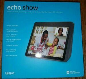 """Amazon Echo Show 2nd Gen 10"""" Smart Display w/Alexa Assistant Charcoal Black LOOK"""