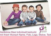 Geldbörse Maxi Brieftasche individuell bedruckt Wunsch Namen Foto Motiv Text Neu