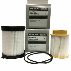 OEM NEW Fuel Filter Kit -16-18 Nissan Titan XD 5.0L V8 -16403-EZ40A 16403-EZ41A