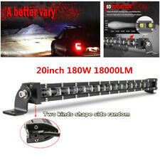 "1Pcs 20"" 180W Slim Single Row 6D Spot Beam Off-Road LED Work Light Bar Universal"