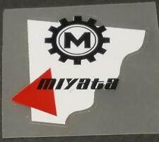Miyata Head Badge Decal - White/Red (sku Miya718)