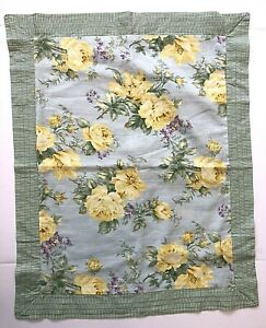 NEW Laura Ashley Lifestyles STANDARD Pillow Sham 20x26 Green Blue Stripe Floral