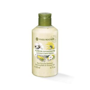 Yves Rocher Shower Gel Cotton Flower Mimosa Relaxing Bath pH Balanced 200 ml