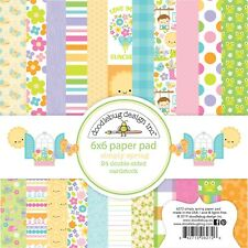 """New Doodlebug 6"""" x 6"""" Paper Pad Simply Spring"""
