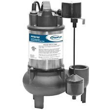 "ProFlo PF93782 - 1/2 HP Stainless Steel & Cast Iron Sewage Pump (2"") w/ Verti..."