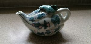 PRETTY FOREIGN TEA POT IN A LEAF DESIGN Possibly Chinese ?(has makers mark)