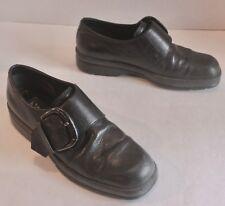 Women's Size 7.5 (38) Ecco Black Leather Buckle Strap Shoes