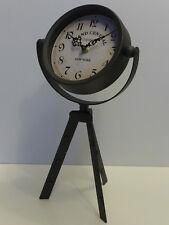 Tischuhr New York - Grand Central mit Stativ Retro Metall Vintage Uhr Kaminuhr