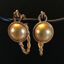 ANCIENT ROMAN-BYZANTINE PAIR OF EARRINGS; TWISTED WIRE AND SHIELD, SOLID GOLD!