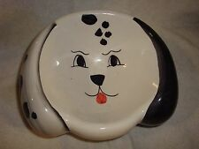 Crackled Dog Bowl, Hand Painted