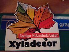 ADESIVO VINTAGE STICKER KLEBER FARBIGE HOLZSCHUTZ LASUR XYLADECOR