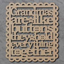Las abuelas son como los botones de señal-De Madera De Corte Láser Mdf Artesanales formas