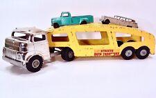 Vintage 1950's Structo Chrome Cab Over Car Hauler Carrier Semi Truck W/ Ramp