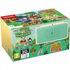 Consola Nintendo 2DS XL edicion animal Crossing blanco verde