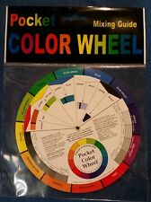 Pocket Color Wheel 5-1/8in Candle Color Mixing Guide, Artist, Paint