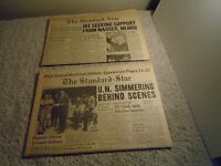2 JOHN F. KENNEDY JFK & RICHARD NIXON 1st Ever Televised DEBATE 1960 Newspapers