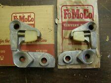 NOS OEM Ford 1956 1957 Thunderbird Door Striker Plates + 1956 Fairlane
