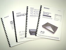 Sony HT-5800DP HT-4850DP HT-4800DP Home Theater System Owners Manual