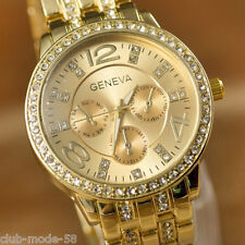 Superbe Montre Genève Quartz Chic Pour Femme Beau Cadran Bracelet Métal PROMO