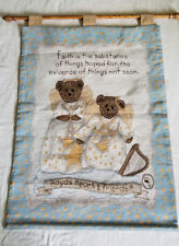 BOYDS Faith ANGEL BEARS Large Tapestry Wall Hanging 26 x 36