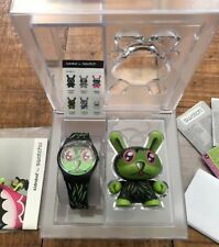 "New Swatch Watch,  Dunny 3"" by Kidrobot X Jeremyville Limited Edition, Green"