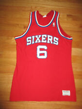 Vintage 80s Sand-Knit Dr J Julius Erving No 6 Philadelphia 76ers (Yth Md) Jersey