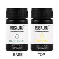 NAIL ART RUBBER TOP/BASE COAT LONG LASTING LED UV GEL POLISH LACQUER ALLURING