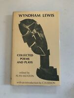 Poetry: Collected Poems and Plays by Wyndham Lewis (1979, Hardcover)