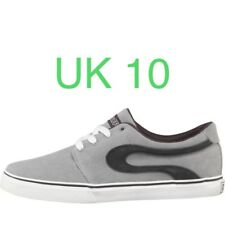 DuFFS Mens Slide Suede Shoes Grey/Charcoal Size 10 Skate Skater Board Trainers