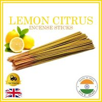 💛 LEMON CITRUS Handmade Indian Incense Sticks Bamboo Joss Fragrance Smell