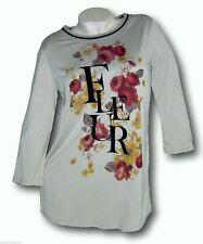 BoyseN´s  Longshirt  Shirt  Gr 32 34 XS  36 38 S beige College  Fleur Blumen neu