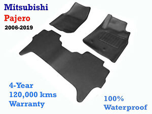 To suit Mitsubishi NS NT NW NX Pajero Rubber floor Mats