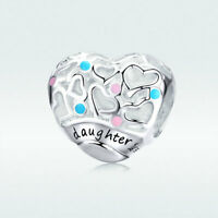 AAA S925 Sterling Silver Pendant Gift Love Charm For Women Bracelet Necklace